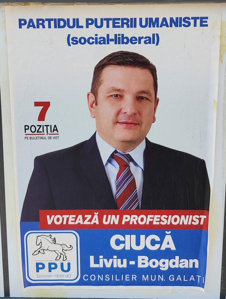 Ciucă Liviu Bogdan - PPU - Candidat Consiliul Local