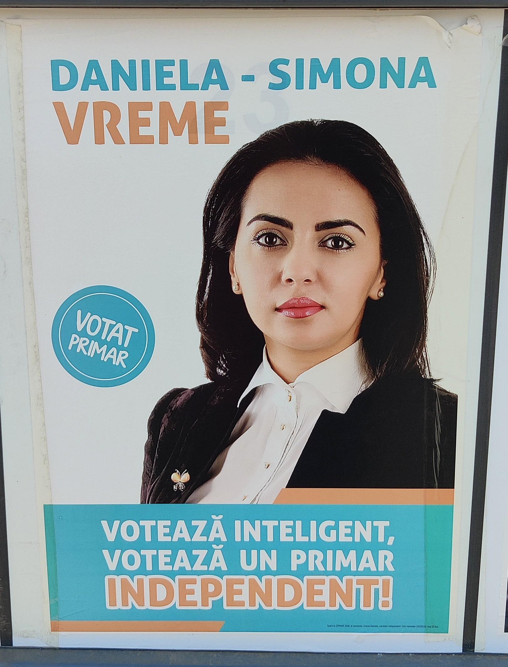 Daniela-Simona Vreme - independent - Candidat Primărie