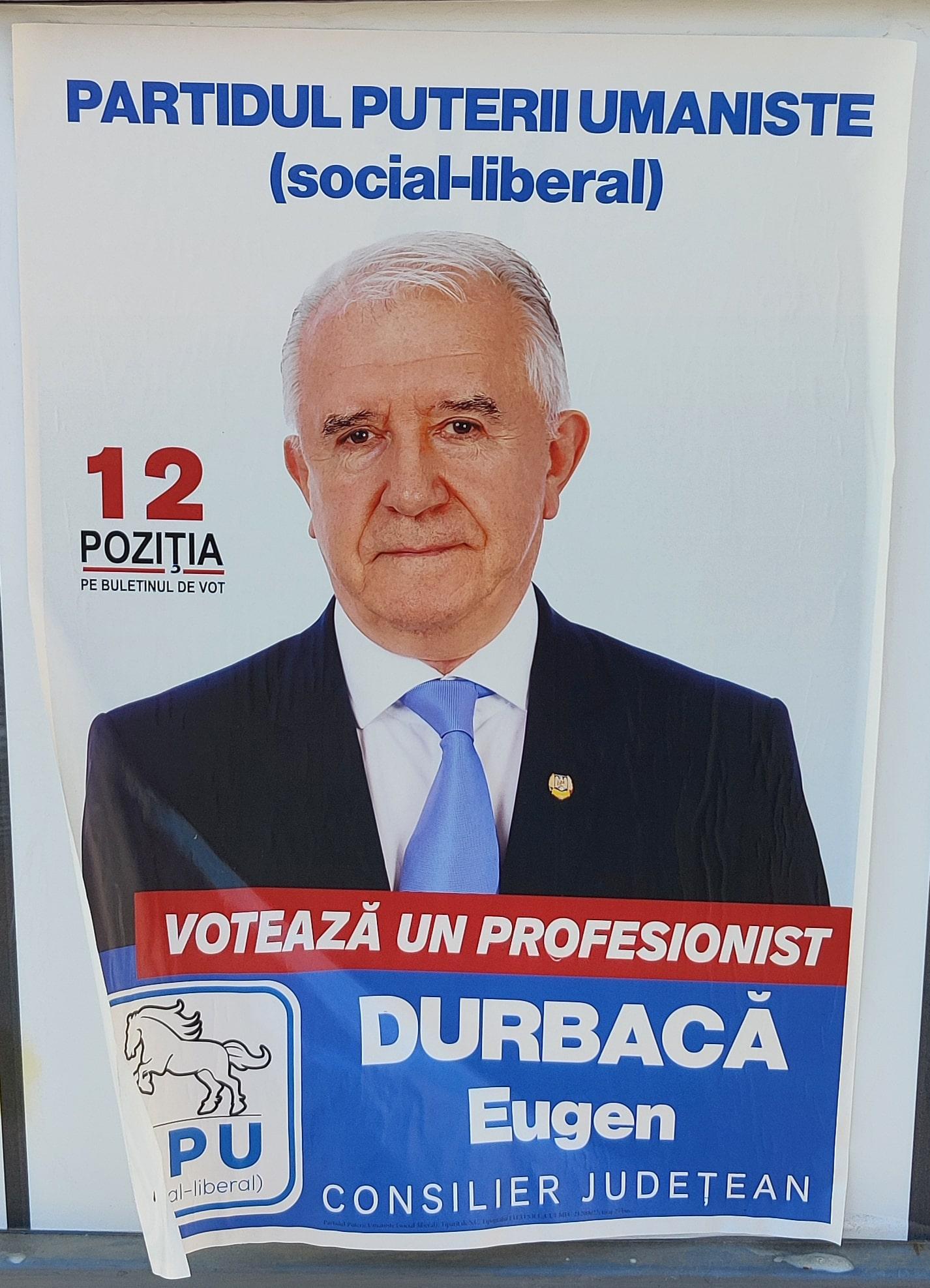 Durbacă Eugen - PPU - Candidat Consiliul Județean